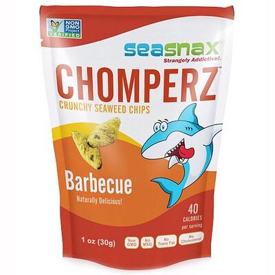 Купить Chomperz, хрустящие чипсы из морских водорослей, со вкусом барбекю, 1 унция (30 г)