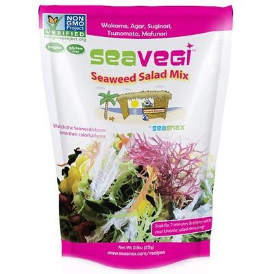 Купить SeaSnax SeaVegi, салатная смесь из морских водорослей, 0, 9 унции (25 г)