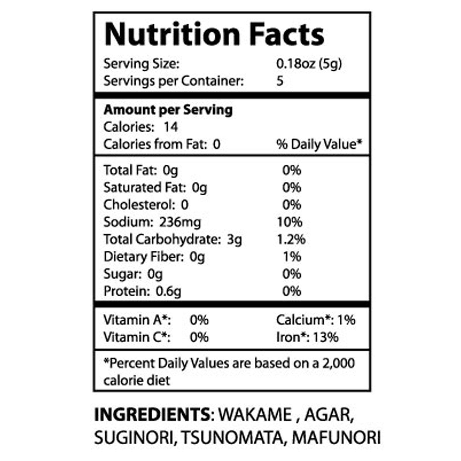 SeaVegi, Seaweed Salad Mix, 0.9 oz