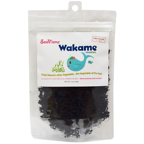SeaSnax, SeaMama, Wakame Flakes, 1.4 oz (40 g) (Discontinued Item)