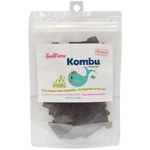 SeaSnax, SeaMama, Kombu, 1.4 oz (40 g) (Discontinued Item)