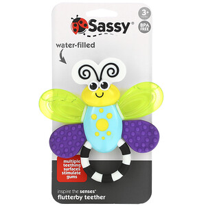 Sassy, Inspire The Senses, Flutterby Teether, 3 + Months, 1 Count отзывы