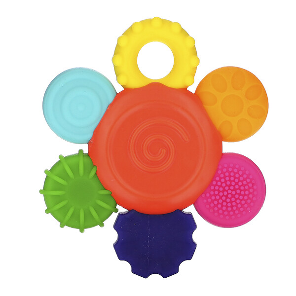 Inspire The Senses, Flower Teether Rattle, 3+ Months, 1 Count