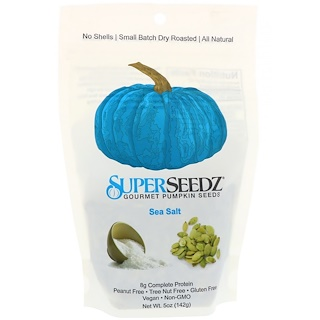 SuperSeedz, Gourmet Pumpkin Seeds, Sea Salt, 5 oz (142 g)