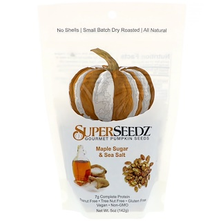 SuperSeedz, Gourmet Pumpkin Seeds, Maple Sugar & Sea Salt, 5 oz (142 g)
