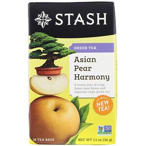 Стэш Ти, Green Tea, Asian Pear Harmony, 18 Tea Bags, 1.1 oz (34 g) отзывы
