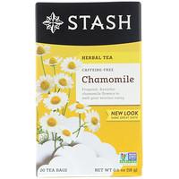 Herbal Tea, Chamomile, Caffeine Free, 20 Tea Bags, 0.6 oz (18 g) - фото