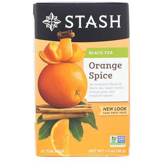 Stash Tea, Black Tea, Orange Spice, 20 Tea Bags, 1.3 oz (38 g)