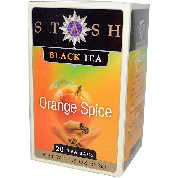 Stash Tea, 高級,紅茶,橙味,20 茶袋,1、3 盎司(38 克)