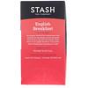 Stash Tea, Black Tea, English Breakfast, 20 Tea Bags, 1.4 oz (40 g)