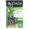 Stash Tea, Green Tea, Premium Green, 20 Tea Bags, 1.4 oz (40 g)
