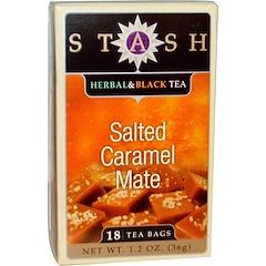 Stash Tea, Kräutertee und schwarzer Tee, Gesalzenes Karamell-Mate, 18 Teebeutel, 1.2 oz (36g)