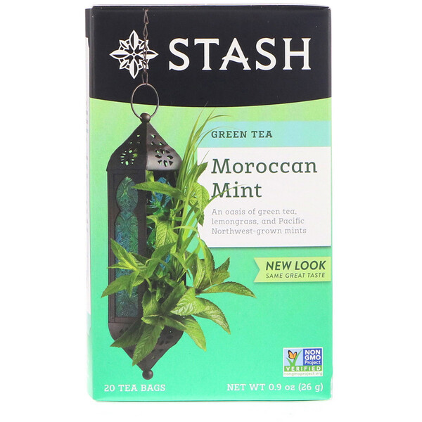 Green Tea, Moroccan Mint, 20 Tea Bags, 0.9 oz (26 g)