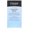 Stash Tea, Herbal Tea, Chamomile Nights, Caffeine Free, 20 Tea Bags, 0.6 oz (18 g)