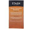 Stash Tea, Black Tea, Decaf Chocolate Hazelnut, 18 Tea Bags, 1.2 oz (36 g)