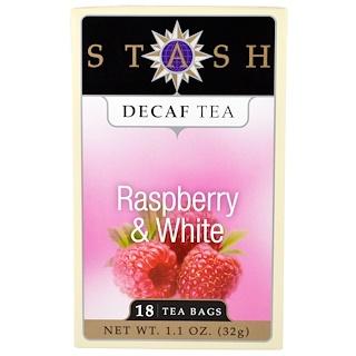 Stash Tea, Decaf Tea, Raspberry & White, 18 Tea Bags, 1.1 oz (32 g)