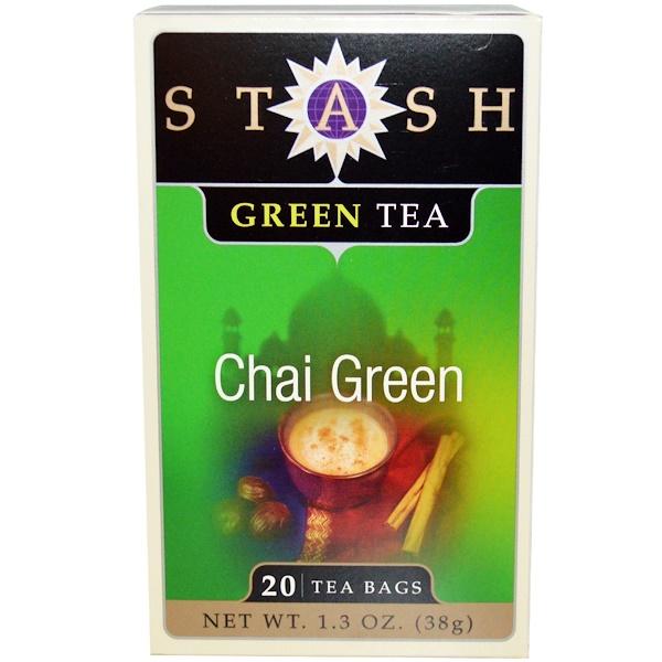 Stash Tea, Зеленый чай, 20 чайных пакетиков, 1,3 унции (38 г)