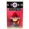 Stash Tea, 紅茶(Black Tea), チャイスパイス, 20ティーバッグ, 1.3オンス(38 g)