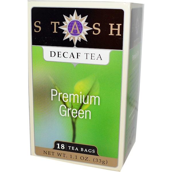 Stash Tea, Premium Green, Чай без кафеина, 18 чайных пакетиков, 1,1 унции (33 г) (Discontinued Item)