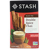 Stash Tea, Black Tea, Double Spice Chai, 18 Tea Bags, 1.1 oz (33 g)