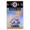 Stash Tea, Herbal Tea, Blueberry Superfruit, Caffeine Free, 20 Tea Bags, 1.3 oz (38 g)