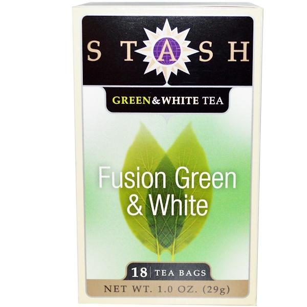 Stash Tea, Смесь зеленого и белого чая высшего сорта, 18 чайных пакетиков, 1,0 унция (29 г)