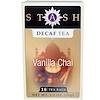 Stash Tea, Premium, Decaf Tea, Vanilla Chai, 18 Tea Bags, 1.2 oz (36 g)