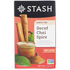 Stash Tea, Black Tea, Decaf Chai Spice, 18 Tea Bags, 1.1 oz (33 g)