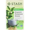 Stash Tea, Green Tea, Organic Premium Green , 18 Tea Bags, 1.1 oz (33 g)