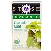 Stash Tea, Premium, Organic, Herbal Tea, Cascade Mint, Caffeine Free, 18 Tea Bags, 0.6 oz (18 g)