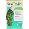 Stash Tea, Herbal Tea, Organic Cascade Mint, Caffeine-Free, 18 Tea Bags, 0.6 oz (18 g)