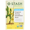Stash Tea, Herbal Tea, Organic Sunny Dandelion Root, 18 Tea Bags, 1.0 oz (30 g)