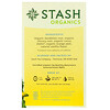 Stash Tea, Herbal Tea, Organic Sunny Dandelion Root, 18 Tea Bags, 1.0 oz (30 g)