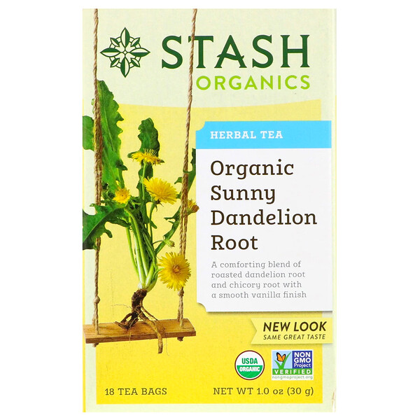 Herbal Tea, Organic Sunny Dandelion Root, 18 Tea Bags, 1.0 oz (30 g)