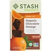 Stash Tea, Herbal Tea, Organic Chocolate Orange, Caffeine Free, 18 Tea Bags, 1.2 oz (36 g)