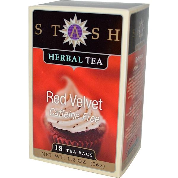 Stash Tea, 花草茶,紅色天鵝絨,不含咖啡因,18 茶袋,1、2 盎司(36 克)