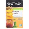 Stash Tea, Green Tea & Matcha, Ginger Peach, 18 Tea Bags, 1.2 oz (36 g)