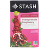 Stash Tea, Green Tea & Matcha, Pomegranate Raspberry, 18 Tea Bags, 1.2 oz (36 g)