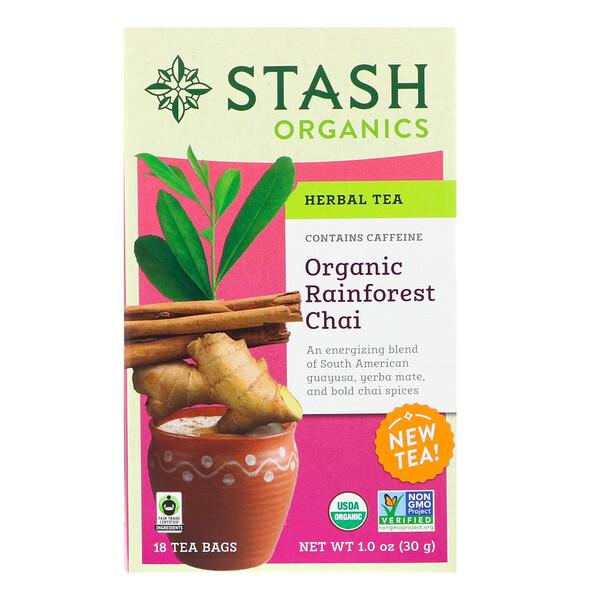 Stash Tea, Травяной чай, органический чай из тропических лесов, 18 чайных пакетиков, 1,0 унц. (30 г)
