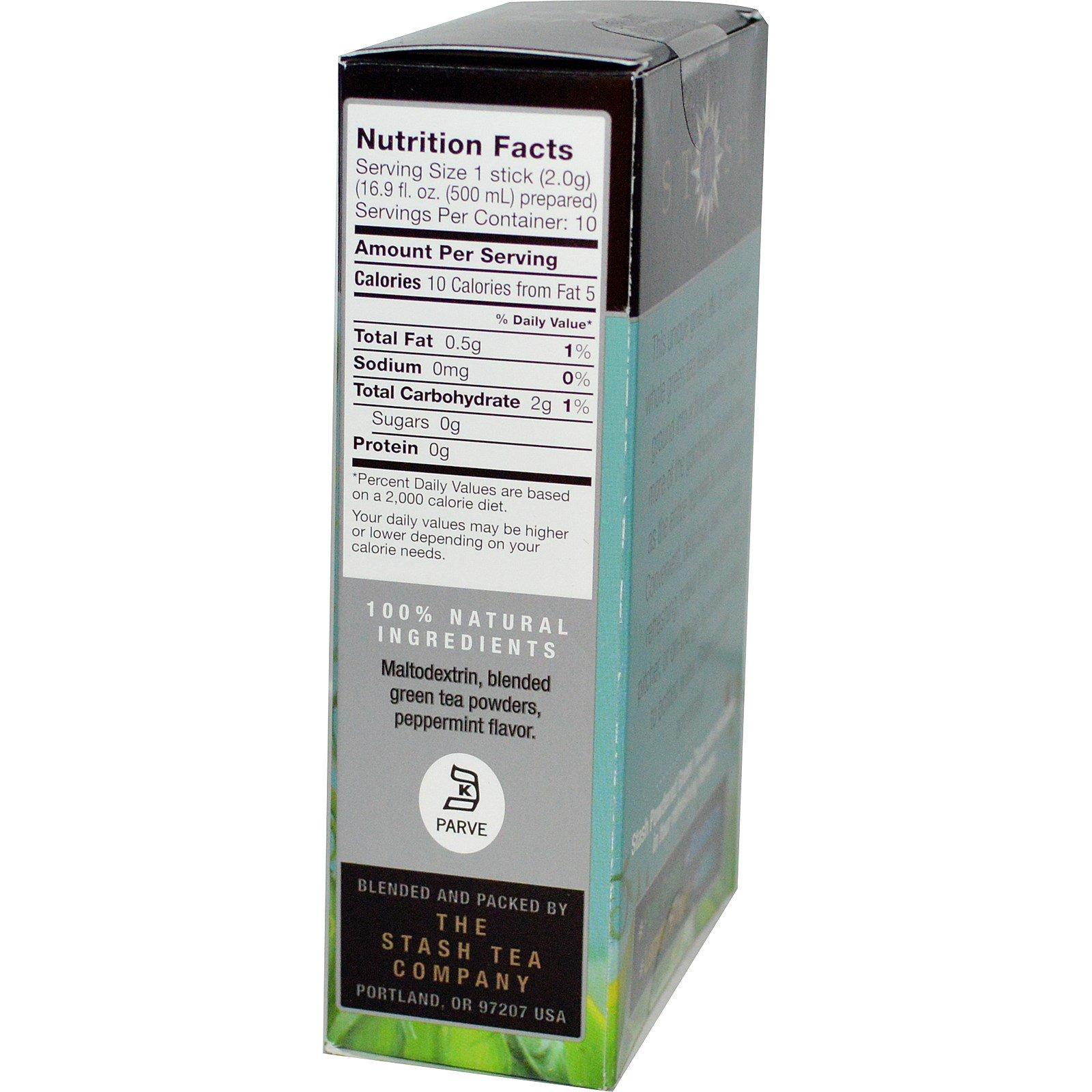 Stash Tea, Iced Green Tea Powder, Mint