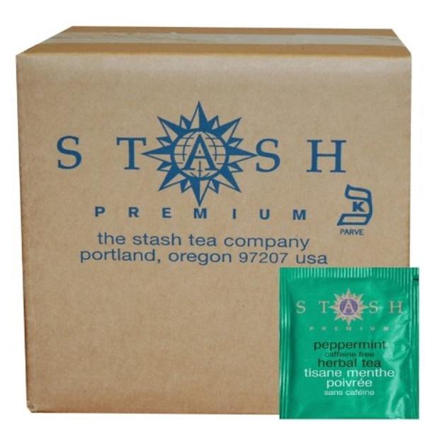 Stash Tea, Peppermint Herbal Tea, Caffeine Free, 100 Foil Teabags, 3.5 oz (100 g) (Discontinued Item)