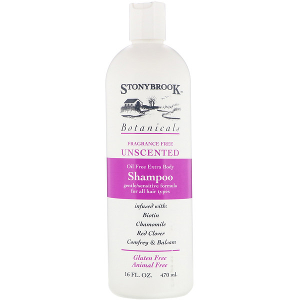 Stony Brook Botanicals, Shampoo, Unscented, 16 fl oz (470 ml)