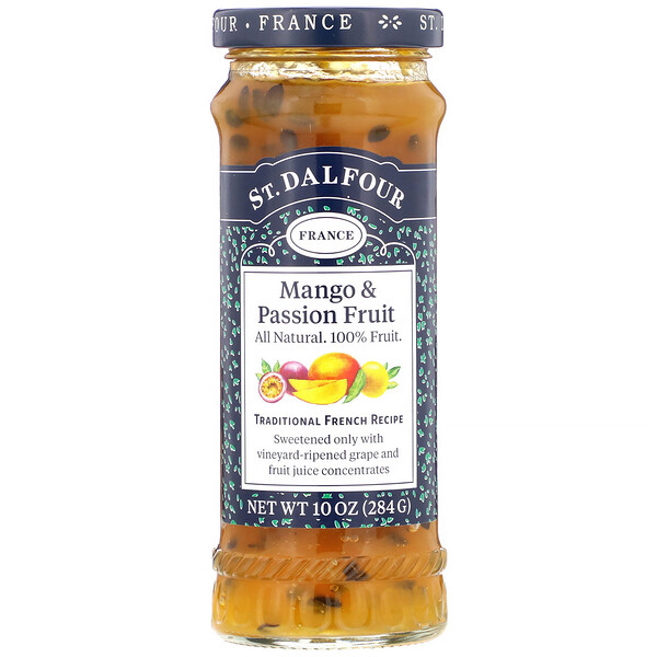 St. Dalfour, Mango & Passion Fruit, Deluxe Mango & Passion Fruit Spread, 10 oz (284 g)