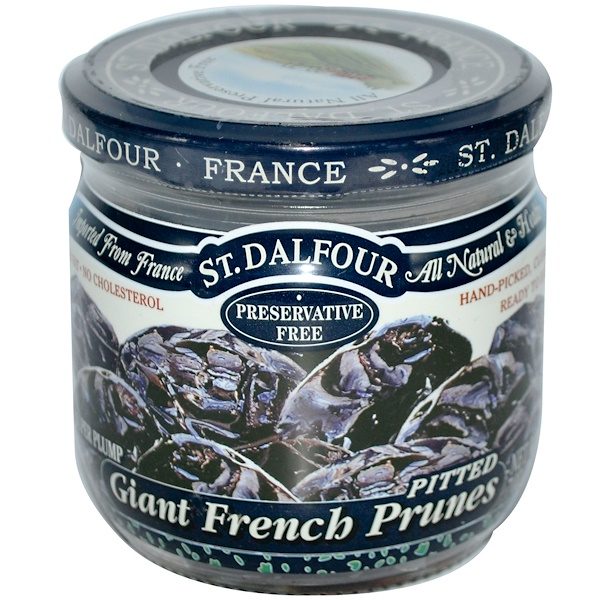 St. Dalfour, サンダルフォー, Giant French Prunes, Pitted, 7 oz (200 g)