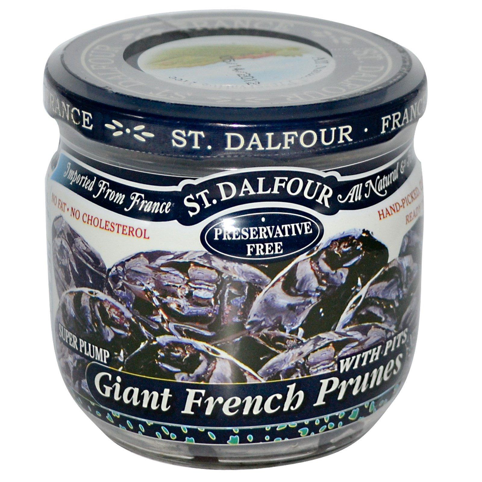 St. Dalfour, Крупный французский чернослив с косточками, 7 унций (200 г)