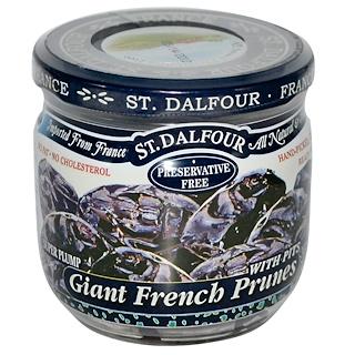St. Dalfour, ジャイアント フレンチ プルーン 種入り, 7 oz (200 g)