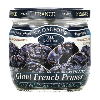 St. Dalfour, Giant French Prunes with Pits, 7 oz (200 g)