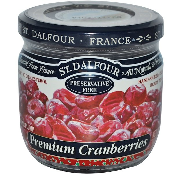 St. Dalfour, Super Plump Premium Cranberries, 7 oz (200 g)