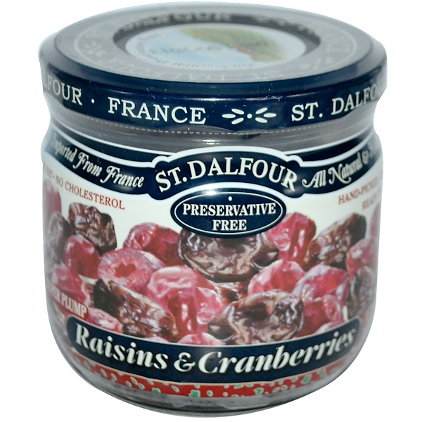 St. Dalfour, Raisins & Cranberries, 7 oz (200 g) (Discontinued Item)