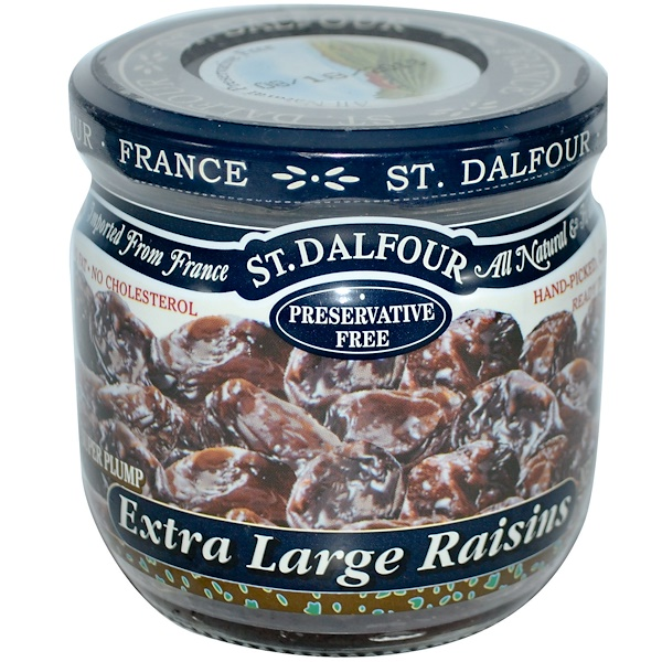 St. Dalfour, Extra Large Raisins, 7 oz (200 g) (Discontinued Item)